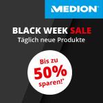 Black Week Sale bei Medion – Bis zu 50% Rabatt auf ausgewählte Produkte