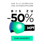 Auf alle Ski- und Sonnenbrillen bis zu 50% Rabatt bei MessyWeekend