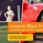 Attraktive Angebote zum Black Friday zwischen 30% und 50% bei meventi