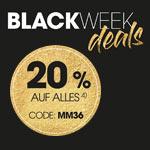Mit den Black Week Deals bei Mia Moda sparst du jetzt 20% auf das komplette Sortiment