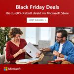 Microsoft Black Friday Deals – Bis zu 60% Rabatt direkt im Store!