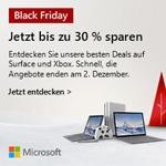 Black Friday Deals bei Microsoft – Jetzt bis zu 30% sparen