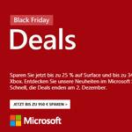 Black Friday im Microsoft Store – Jetzt zugreifen und bis zu 950 EURO sparen