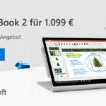 Microsoft Surface Book 2 für nur 1.099 EURO!
