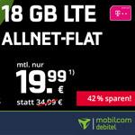 Telekom Allnet 8 + 10 GB LTE für nur 19,99 € im Monat bei mobilcom debitel!