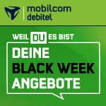 Black Week bei mobilcom debitel: 20 GB LTE Allnet Flat für nur 14,99€ im Telefónica Netz