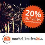 Verrückt – 20% Rabatt auf alles inkl. Versandkosten frei bei moebel-kaufen24.de