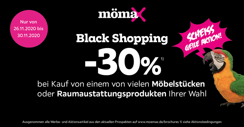 mömax Black Friday 2020
