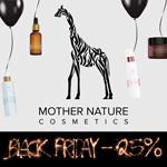Zum Black Friday gibt es bei Mother Nature Cosmetics satte 25% Preisnachlass auf alles!