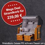 """Mr. Deko Friday Sale: Spare 20% auf den Strandkorb """"Ostsee"""""""