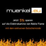 Spare jetzt 5% auf die Elektrokamine von Noble Flame auf Muenkel.de