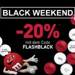 20% Rabatt mit dem Black Weekend Angebot von My M&M's®
