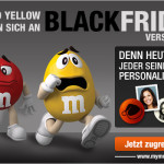 Gestalte deine ganz persönlichen M&M's und spare zum Black Friday 7€ bei deiner Bestellung!