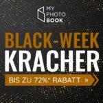Spare jetzt bis zu 72% mit den Black-Week Krachern von MyPhotoBook