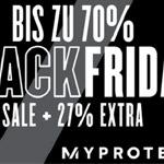 Black Friday bei Myprotein – Bis zu 70% Rabatt + 27% Extra Preisnachlass!