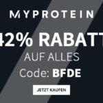 Spare jetzt mit dem Black Friday Deal von Myprotein 42% auf das komplette Sortiment