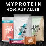 Mega Black Friday Sale bei Myprotein – Sicher dir jetzt hochwertige Sportnahrung mit 40% Rabatt