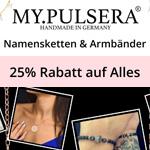 Nur für kurze Zeit – 25% Rabatt auf alle Namensketten und Armbänder bei myPulsera!