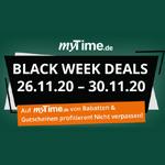 Die myTime.de Black Week Deals – Jetzt Rabatte & Gutscheine sichern!