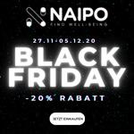 Online shoppen oder vor Ort testen – Sicher dir jetzt 20% Rabatt auf alle Massageartikel von Naipo