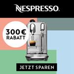 Black Friday bei Nespresso: Sicher dir jetzt bis zu 300 EURO Direktrabatt beim Kauf deiner neuen Kaffeemaschine