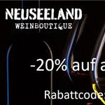 Nur heute 20% Rabatt auf alle Weine von Neuseeland-Weinboutique.de