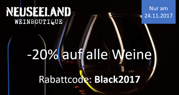 Neuseeland Weinboutique Black Friday 2017