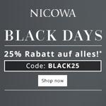Nicowa Black Days – 25% Rabatt auf alles