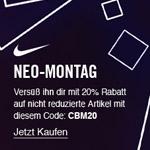 Neo Montag – 20% Rabatt auf alle Vollpreisprodukte bei NIKE!
