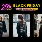 Black Friday bei Nisawi – 25% Rabatt auf personalisierbare und nachhaltige Mode