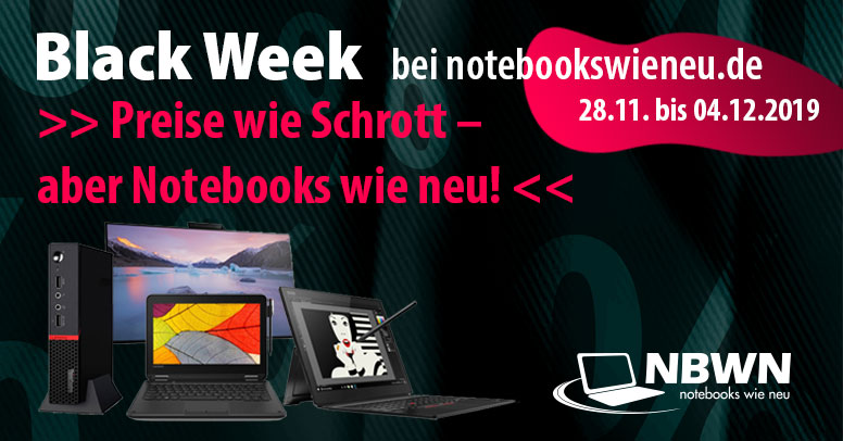notebooks-wie-neu.de Black Friday 2019