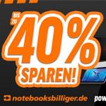 Profitiere erneut vom Black Weekend bei notebooksbilliger.de und spare bis zu 40%
