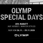 Olymp Special Days – 20% Rabatt auf ausgewählte Herbst / Winter Styles