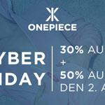 Cyber Deals bei Onepiece, sicher dir jetzt 30% Rabatt auf alle Artikel im Onlineshop!