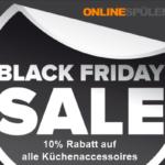 10% Rabatt auf ausgewähltes Küchenzubehör und Küchen-Accessoires bei Onlinespuelenshop.de