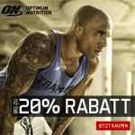 Bis zu 20% Rabatt auf Sportnahrung von Optimum Nutrition