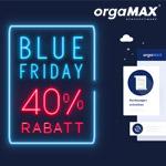 orgaMAX feiert den Blue Friday mit bis zu 40% Rabatt auf dein neues orgaMAX