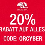 20% Preisnachlass auf alles im Shop von Origins!