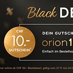 Großer Spaß – keiner Preis: 10 CHF Rabatt auf ALLES im Store von Orion