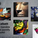 paintify Black Friday / Cyber Monday Deals: 50 Euro auf alle Gemälde aus dem paintify Kunstmarkt!