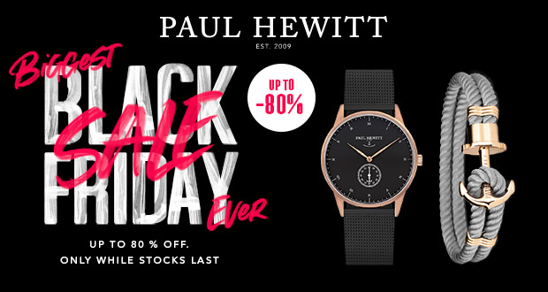 Paul Hewitt Black Friday 2018