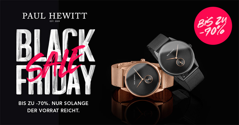 Paul Hewitt Black Friday 2019