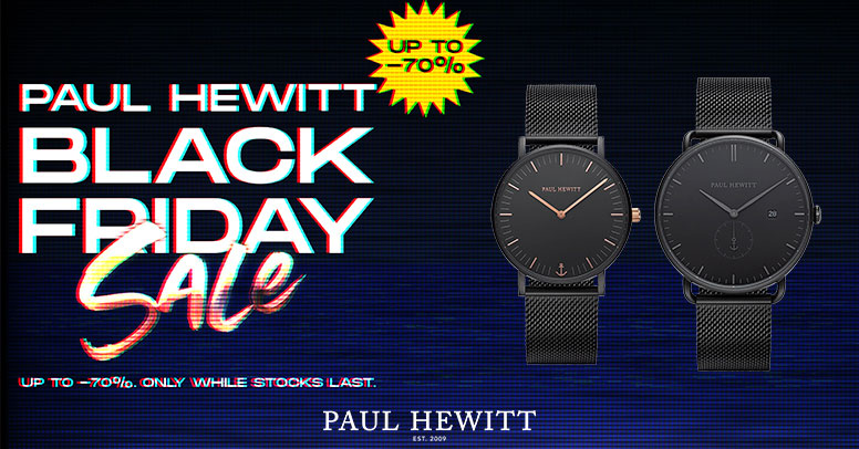 Paul Hewitt Black Friday 2020