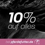 Nur heute auf pferdefutter.de – 10% auf das gesamte Sortiment rund um das Thema Pferd