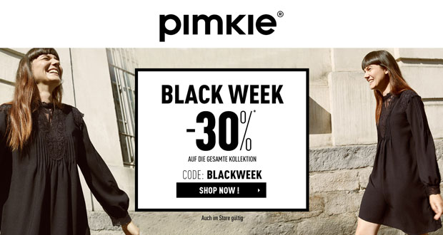 c02cb894a2b Black Week bei Pimkie – Sicher dir jetzt 30% Rabatt auf die gesamte ...