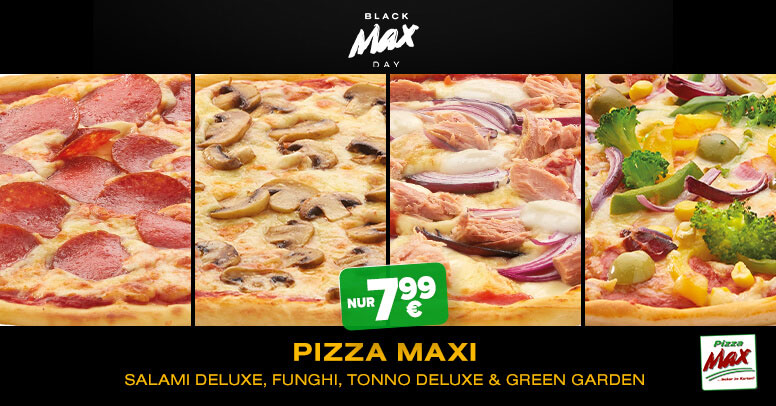 Pizza Max Black Friday 2020