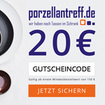 20 Euro Black-Friday-Gutschein ab 150 Euro Mindestbestellwert auf porzellantreff.de