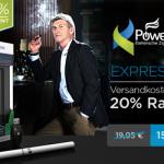 20% Rabatt plus versandkostenfreie Lieferung beim Kauf des Express Kit von PowerCigs!