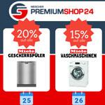 Große Crazy Weekend Aktion bei Premiumshop24 – Zwischen 15 und 20% Rabatt auf Markengeräte.