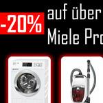 20% auf ALLE Miele Geräte beim Premiumshop24.
